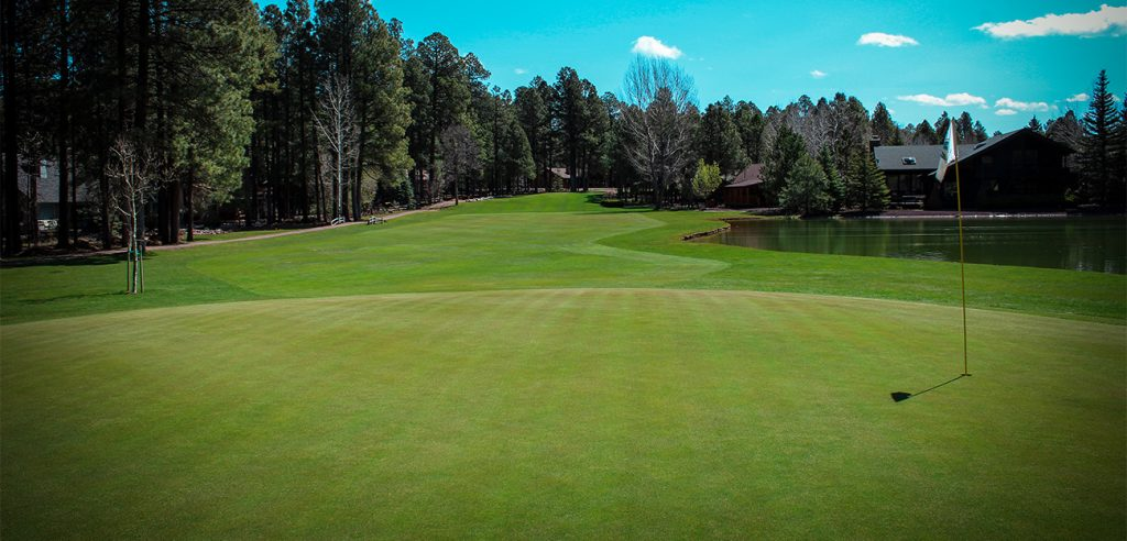 Pinetop Lakes Golf Course - Hole 11 looking back at our signature hole