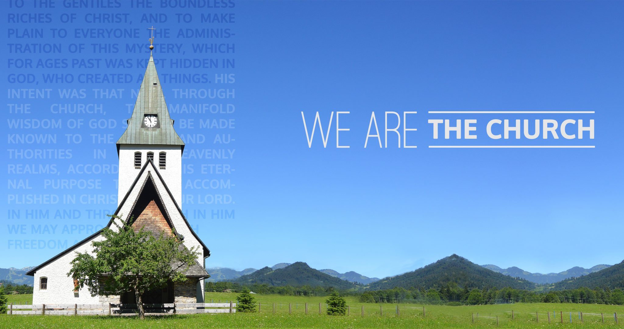 We Are The Church - New Series Starting January 2018